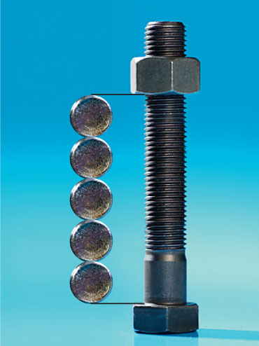 he Myth: If the clamp length is at least five times the bolt's diameter, then the joint will not loosen from vibration.